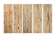 Old wood planks isolated on white background. Brown wooden texture. royalty free stock photography
