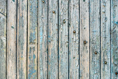 Old wood planks with paint peeling off. Royalty Free Stock Photography