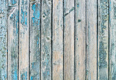 Old wood planks with paint peeling off. Stock Photo