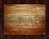 Old wood plate or texture Stock Image