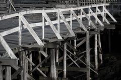 Old wood pontoon Royalty Free Stock Image