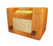 Old wood radio. Isolated on a white background Royalty Free Stock Photo