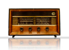 Old Wood Radio Stock Photo