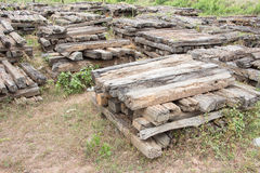 Old Wood Railway Sleepers Royalty Free Stock Photography