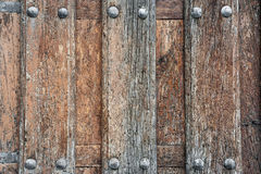 Old wood with rivets Royalty Free Stock Photos
