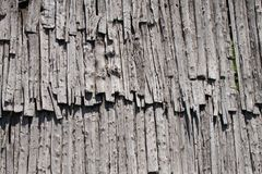 Old wood roof Stock Image
