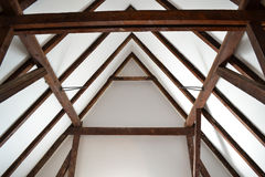 Old wood roof construction Royalty Free Stock Photography