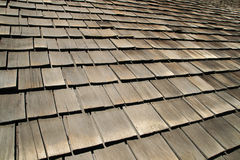 Old wood roof shingles Royalty Free Stock Photos
