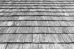 Old wood roofing pattern Stock Image