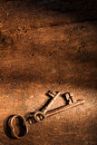 Old wood and rusty keys Royalty Free Stock Image