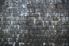 Old wood shed siding with peeling white paint background texture Royalty Free Stock Image