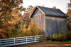 Old Wood Shed stock photography