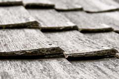 Old wood shingle pattern Stock Photography