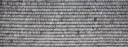 Old wood shingle roof background Stock Photography