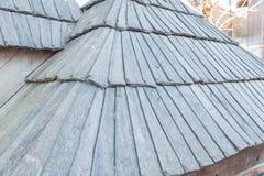 Old wood shingle roof Royalty Free Stock Image