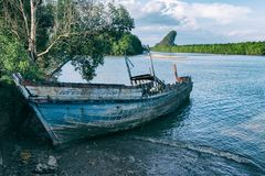 Old Wood Shipwreck Abandoned