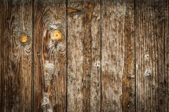 Old wood brawn royalty free stock photography