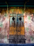 Old Wood Shutters French Quarter New Orleans LA 2. New Orleans LA USA - Sep. 13, 2016 - This is a old shutter on a old building in the French Quarter in New stock image