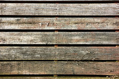 Old Wood Slat Sidewalk Boardwalk in Antique Town Stock Photo