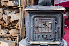 Old wood stove Stock Image