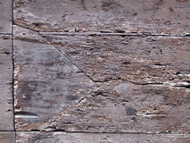Old wood surface. Old brown wood rough surface - nice background pattern with cracks and crevices Stock Photo