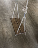 Old wood swing hanged Royalty Free Stock Photo
