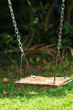 Old wood swing Stock Photo