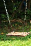 Old wood swing Stock Photo