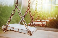 Old wood swing Royalty Free Stock Image