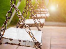 Old wood swing Royalty Free Stock Images