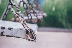Old wood swing Royalty Free Stock Photos