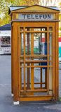 Old wood telephone booth Royalty Free Stock Photos