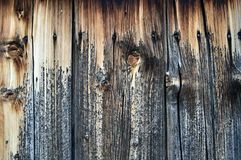Old wood texture cracked natural brown Stock Photography