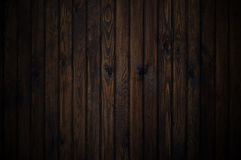 Old wood texture. Dark brown Stock Photography