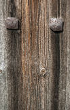 Old wood texture with metal elements Royalty Free Stock Photography