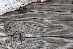 The old wood texture with natural patterns. Inside the tree background. Old grungy and weathered grey wooden wall planks. Texture background and marked by long Stock Image