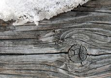 The old wood texture with natural patterns. Inside the tree background. Old grungy and weathered grey wooden wall planks Stock Photography