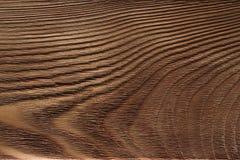 Wooden plank, dark brown board, vintage background stock images