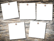 Old wood texture with note paper Royalty Free Stock Images