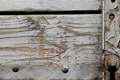 Old wood texture with paint Royalty Free Stock Images