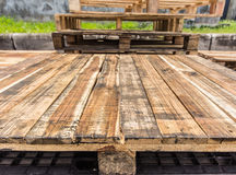 Old wood texture of pallets Stock Image