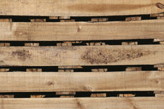 Old wood texture of pallets for background. Royalty Free Stock Images