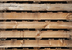 Old wood texture of pallets for background. Stock Photo