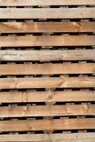 Old wood texture of pallets for background. Stock Image
