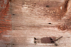 Old wood texture with rusty nails Royalty Free Stock Photos