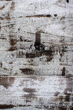 Old wood texture Series. Large white paint peeling off the old wood Royalty Free Stock Image