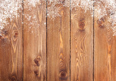 Old wood texture with snow Royalty Free Stock Image