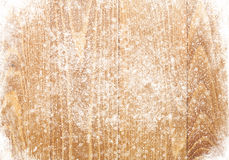 Old wood texture with snow Royalty Free Stock Images