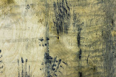 Old wood textured background. Old wooden surface covered with mud Stock Photo