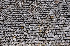 Old wood tiled roof Stock Images